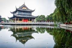 Pavillon de Zhigui dans le temple de Quanfu Image libre de droits