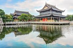 Pavillon de Zhigui dans le temple de Quanfu Image stock