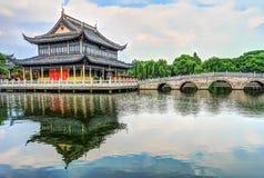 Pavillon de Zhigui dans le temple de Quanfu Photographie stock