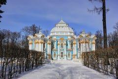 Pavillon die Einsiedlerei, Pushkin, St. Petersburg, Russland Lizenzfreies Stockbild