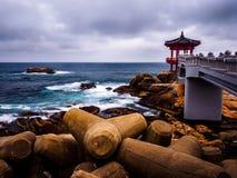 Pavillon donnant sur la mer est Images stock