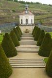 Pavillon du château de Wackerbarth en ressort en retard, Radebeul, Allemagne Photos stock