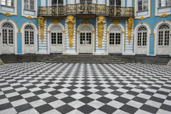 Pavillon-Einsiedlerei, Catherine Park, Tsarskoye Selo Pushkin, Russland Stockfotos