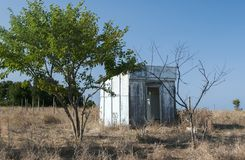 Pavillon en bois abandonné Photographie stock