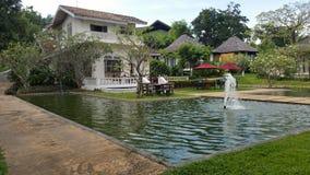 Pavillon et piscine Photographie stock libre de droits