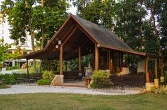 Pavillon extérieur romantique de mariage Photographie stock