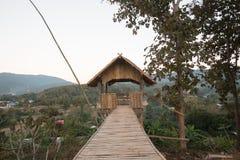 Pavillon gemacht vom Bambus Lizenzfreies Stockbild