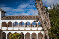 Pavillon of Generalife in Alhambra complex Royalty Free Stock Images