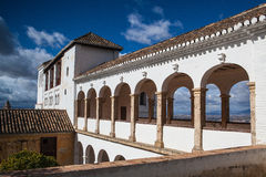 Pavillon of Generalife in Alhambra complex Royalty Free Stock Photography