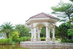 Pavillon im Landhausbezirk Lizenzfreies Stockfoto
