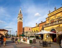 Pavillon italien, étalage du monde, Epcot Images libres de droits