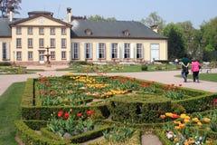 Pavillon Joséphine och Orangerien parkerar i Strasbourg Arkivbilder