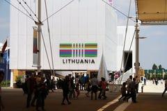 Pavillon lithuanien à l'expo 2015 en Milan Italy Image stock
