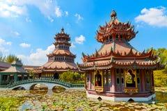 Pavillon Phra Kaew in Thailand Stockbilder