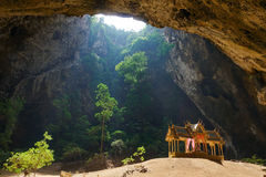 Pavillon in Phraya Nakorn cave nearby Hua Hin , Thailand . Natio Stock Photo