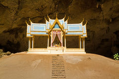 Pavillon in Phraya Nakorn cave Royalty Free Stock Photos