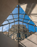 Pavillon Rishelieu in Louvre Museum. Stock Photos