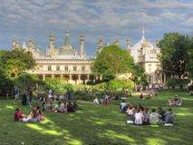Pavillon royal et jardins, Brighton Images libres de droits