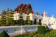 Pavillon royal, le parc royal Rajapruek Photographie stock
