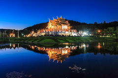 Pavillon royal, le parc royal Rajapruek Photo libre de droits