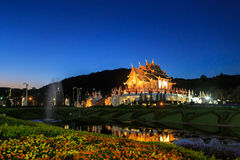 Pavillon royal, le parc royal Rajapruek Image libre de droits