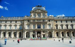 Pavillon Sully building of Louvre Museum in Paris stock image