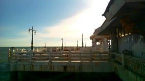 Pavillon sur la plage Image libre de droits