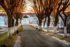 Pavillon sur la Volga Photo stock