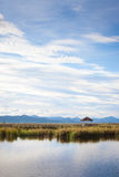 Pavillon sur le marais Photo stock