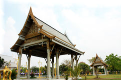 Pavillon thaïlandais, Wat Sothornwararamworaviharn, Chachoengsao Thaïlande Image libre de droits