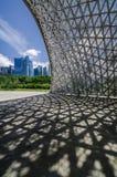 Pavillon während der Zukunft von uns Ausstellung stockbild