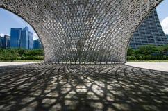 Pavillon während der Zukunft von uns Ausstellung Lizenzfreies Stockfoto