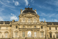 Pavillonen befläcker, Louvreslotten, Paris, Frankrike Fotografering för Bildbyråer