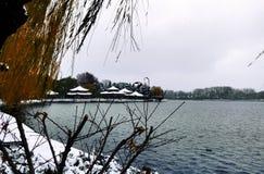Pavillons à un lac Image libre de droits