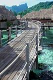 Pavillons d'Overwater Photo libre de droits