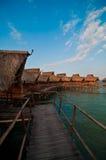 Pavillons dans une ressource romantique Photographie stock