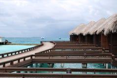 Pavillons de l'eau, Maldives Image stock