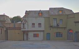 Pavillons de pelliculage et décorations prêtes à employer construites installés aux studios universels Photos stock