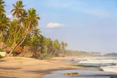 Pavillons sur la plage Photo stock