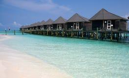 Pavillons sur une île tropicale Image stock
