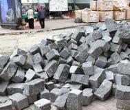 Pavimentação da construção Imagem de Stock Royalty Free