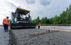 Pavimentação do asfalto imagem de stock royalty free