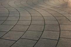 Pavimentación curvada Imagenes de archivo