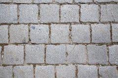 Pavimentación del granito del pavimento Imagen de archivo libre de regalías