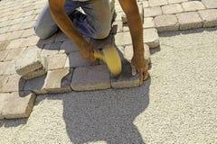 Pavimentación del trabajo Fotos de archivo