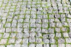 Pavimentadoras de piedra cuadradas Imagen de archivo