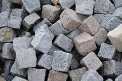 Pavimentadoras del granito Imagen de archivo