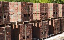 Pavimentadoras del ladrillo Foto de archivo libre de regalías
