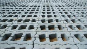 Pavimentadoras permeables (red del césped) Foto de archivo libre de regalías