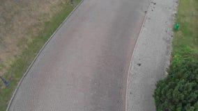 Pavimentando a estrada Vista de acima 4K vídeos de arquivo